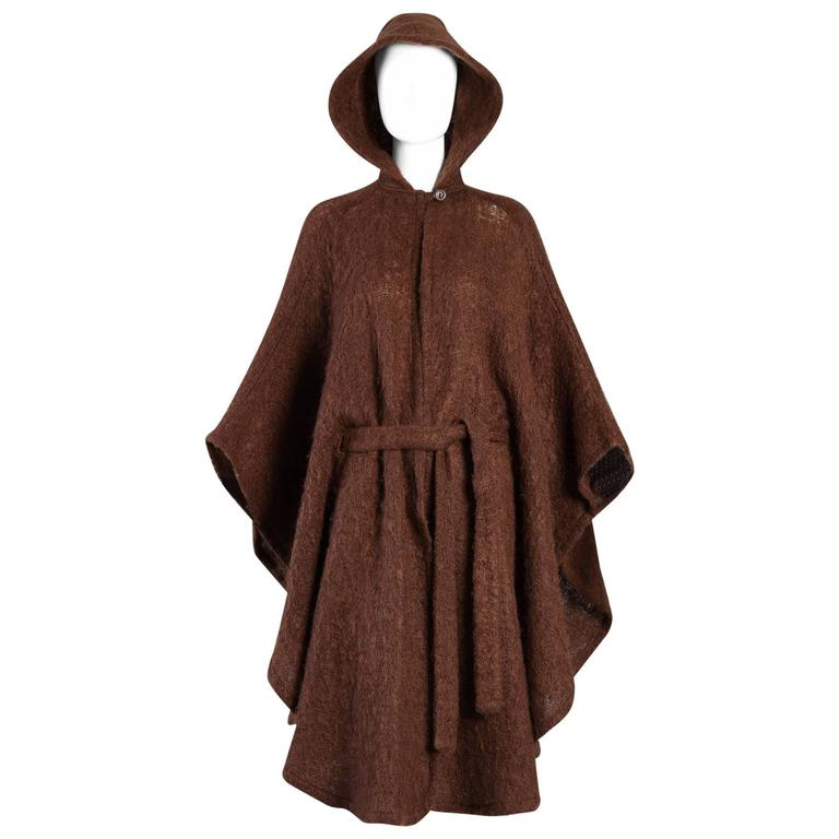 1970s Irish Donegal Wool Hooded Cape Coat At 1stdibs