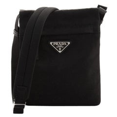 Prada Double Flat Crossbody Bag Tessuto Small