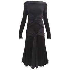 """Alexander Mcqueen 2004 """"Pantheon as lecum"""" jersey dress"""