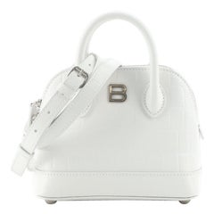 Balenciaga Ville Bag Crocodile Embossed Leather XXS