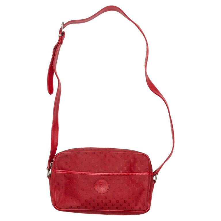 Fendi Red Canvas Shoulder Bag For Sale