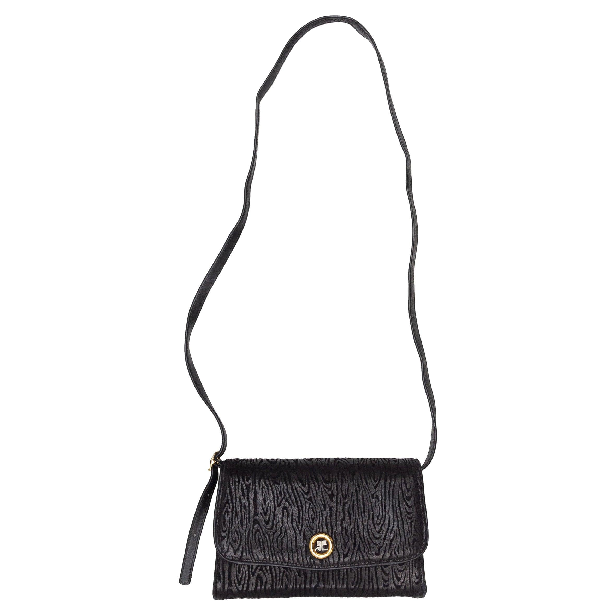 Courreges Black Flap Bag