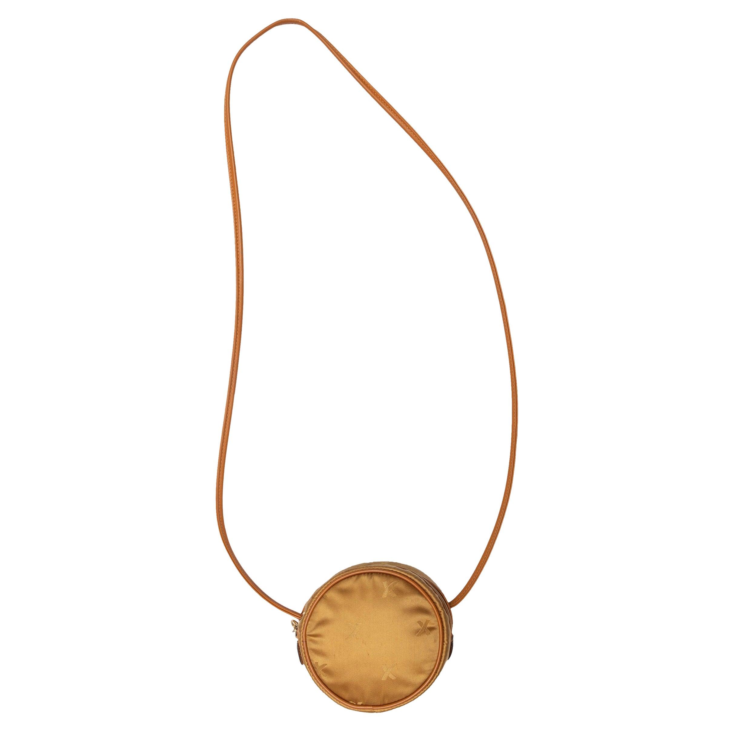 Paloma Picasso Gold Circular Crossbody Bag