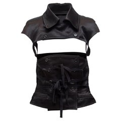 Ann Demeulemeester Black Cap Sleeve Two-Piece Detachable Top
