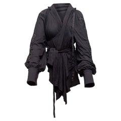 Ann Demeulemeester Black Long Sleeve Wrap Blouse