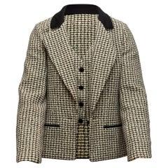 Chanel Sage & Multicolor Tweed Jacket & Vest Set