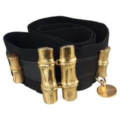 Vintage YVES SAINT LAURENT Ysl Bamboo Elastic Belt