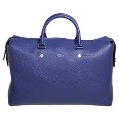 Mulberry Indigo Leather City Weekender Duffel Bag