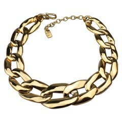 Vintage YVES SAINT LAURENT Ysl by Robert Goossens Chunky Chain Links Necklace