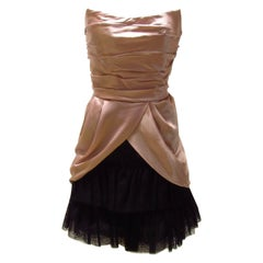 Alberta Ferretti Silk Strapless Dress