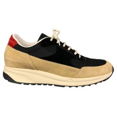 COMMON PROJECTS Size 12 Tan & Black Color Block Nylon Lace Up Sneakers