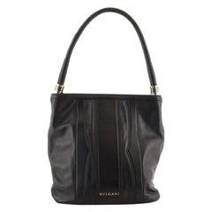 Bvlgari Open Hobo Leather Medium