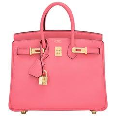 HSS Hermes Birkin 25 Rose Azalee Lime Pink VIP Order Bag Exclusive Y Stamp, 2020