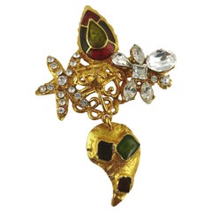 Christian Lacroix Vintage Opulent Jewelled Brooch
