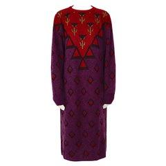 Yves Saint Laurent tricot vintage 1970s wool mohair sweater dress