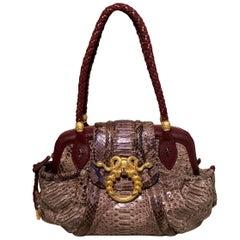 Limited Edition Judith Leiber Rachel Zoe Python Medusa Bag