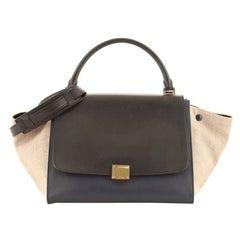 Celine Trapeze Bag Leather with Canvas Medium