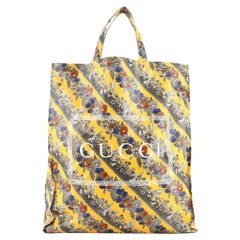 Gucci Logo Shopper Tote Printed Coated Cotton Tall
