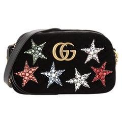Gucci GG Marmont Shoulder Bag Crystal Embellished