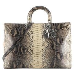 Christian Dior Lady Dior Bag Python XL
