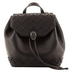 Bvlgari Nicholas Kirkwood Serpenti Forever Backpack Studded Leather Medium