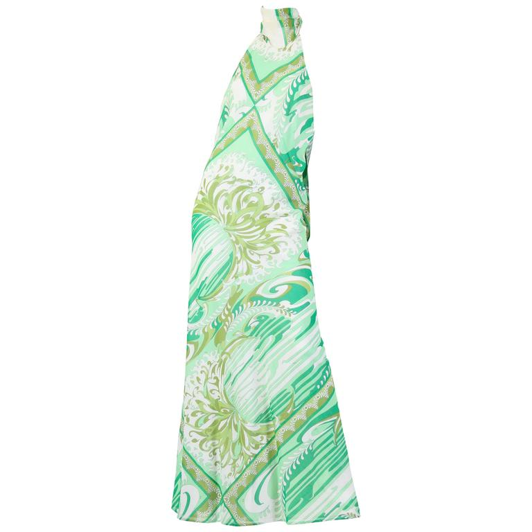 Pucci Bias Cut Backless Cotton Maxidress For Sale