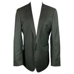 DOLCE & GABBANA Size 42 Black Wool / Viscose Blend Sport Coat