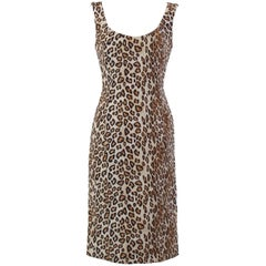 Alexander McQueen Leopard Silk Dress