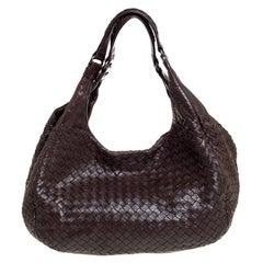 Bottega Veneta Brown Intrecciato Nappa Leather Campana Hobo