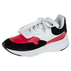 Alexander McQueen Multicolor Suede Oversized Runner Low Top Sneakers Size 38.5