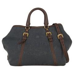 Prada  Women   Shoulder bags   Brown, Navy Fabric