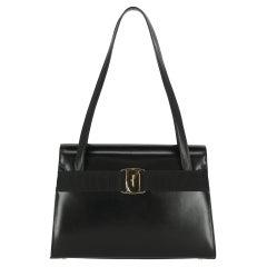 Salvatore Ferragamo  Women   Shoulder bags   Black Leather