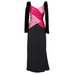 Draped Cocktail dress in pink silk and velvet Valentino Boutique