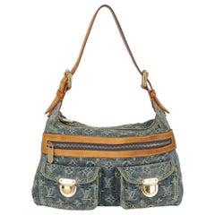 Louis Vuitton  Women   Shoulder bags  Blue, Camel Color Cotton