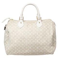 Louis Vuitton Monogram Mini Lin Canvas Speedy 30 Bag