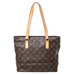 Louis Vuitton Monogram Canvas And Leather Cabas Piano Tote