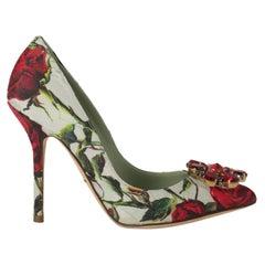 Dolce & Gabbana  Women   Pumps  Green, Red Synthetic Fibers EU 36.5