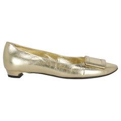 Roger Vivier  Women   Ballet flats  Gold Leather EU 37