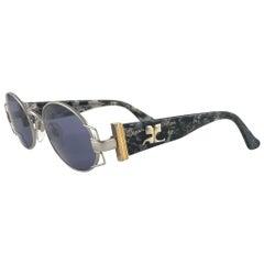 New Vintage Courreges 9430 Oval Metallic Frame 1980's Sunglasses Handmade France