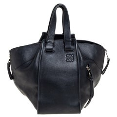 Loewe Black Leather Small Hammock Bag