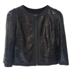 Chanel Black Paris-versailles Sequined Jacket