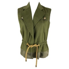 Tom Ford For Yves Saint Laurent 2000s Army Green Tailored Vest
