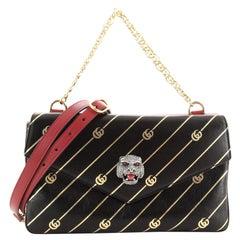 Gucci Thiara Double Shoulder Bag Printed Leather Medium