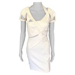 Gucci S/S 2010 Runway Cutout White Mini Dress