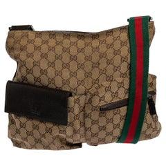 Gucci Beige GG Canvas Medium Messenger Bag