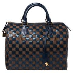 Louis Vuitton Damier Ebene Paillettes Limited Edition Speedy 30 Bag