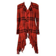Tartan coat in wool Yohji Yamamoto