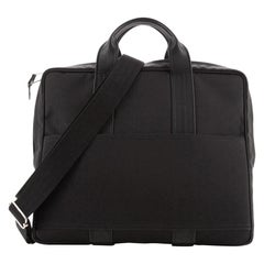 Hermes Acapulco Briefcase Toile And Leather Toile and Leather