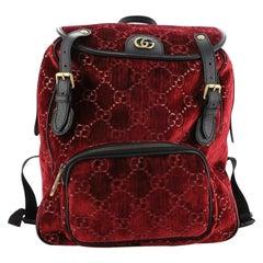 Gucci GG Marmont Backpack GG Velvet Small