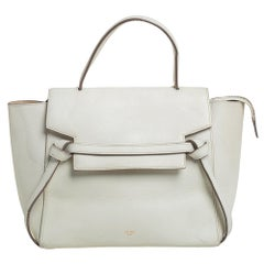 Celine Off White Leather Micro Belt Top Handle Bag